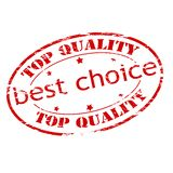 Best choice. Rubber stamp with text best choice inside,  illustration Stock Images