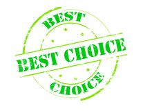 Best choice. Rubber stamp with text best choice inside,  illustration Stock Image