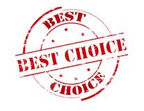 Best choice. Rubber stamp with text best choice inside,  illustration Stock Photos