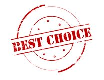 Best choice. Rubber stamp with text best choice inside,  illustration Stock Photo
