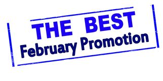 The best February promotion. Rubber stamp with text the best February promotion inside,  illustration Royalty Free Stock Images