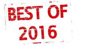 Best of 2016. Rubber stamp with text best of 2016 inside,  illustration Stock Image