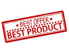 Best product. Rubber stamp with text best product inside,  illustration Stock Photography