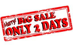 Big sale only two days. Rubber stamp with text big sale only two days inside,  illustration Royalty Free Stock Photos