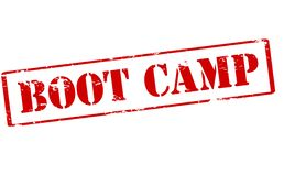 Boot camp. Rubber stamp with text boot camp inside, illustration vector illustration