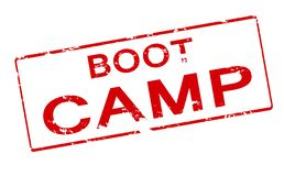 Boot camp. Rubber stamp with text boot camp inside, illustration royalty free illustration