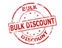 Bulk discount. Rubber stamp with text bulk discount inside,  illustration Stock Photo