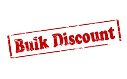 Bulk discount. Rubber stamp with text bulk discount inside,  illustration Royalty Free Stock Photography