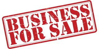 Business for sale. A rubber stamp with the text 'Business for sale Stock Photography