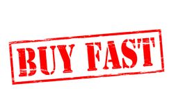 Buy fast. Rubber stamp with text buy fast inside,  illustration Stock Photography