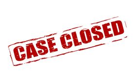 Case closed. Rubber stamp with text case closed inside,  illustration Royalty Free Stock Photography
