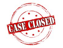Case closed. Rubber stamp with text case closed inside,  illustration Royalty Free Stock Image