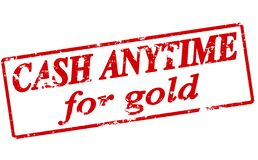 Cash anytime for gold. Rubber stamp with text cash anytime for gold inside, illustration royalty free illustration