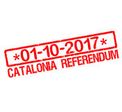 Rubber stamp with text Catalonia referendum 2017. Illustration Stock Photography