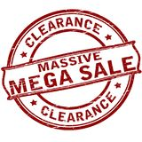 Clearance massive sale. Rubber stamp with text clearance massive sale inside,  illustration Stock Image