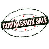 Commission sale. Rubber stamp with text commission sale inside,  illustration Stock Photo