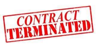 Contract terminated. Rubber stamp with text contract terminated inside,  illustration Stock Images