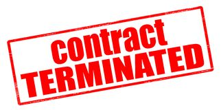 Contract terminated. Rubber stamp with text contract terminated inside,  illustration Royalty Free Stock Images