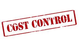 Cost control. Rubber stamp with text cost control inside, illustration royalty free illustration