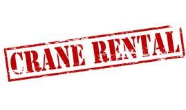 Crane rental. Rubber stamp with text crane rental inside,  illustration Royalty Free Stock Images