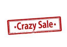 Crazy sale. Rubber stamp with text crazy sale inside, illustration stock illustration