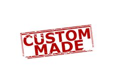 Custom made. Rubber stamp with text custom made inside,  illustration Royalty Free Stock Photography
