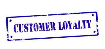 Customer loyalty. Rubber stamp with text customer loyalty inside,  illustration Stock Photo