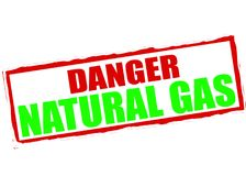 Danger natural gas. Rubber stamp with text danger natural gas inside,  illustration Royalty Free Stock Photos