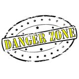 Danger zone. Rubber stamp with text danger zone inside,  illustration Stock Photo
