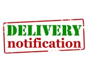 Delivery notification. Rubber stamp with text delivery noification inside,  illustration Stock Photo