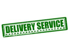 Delivery service. Rubber stamp with text delivery service inside, illustration stock illustration