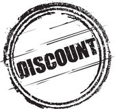 Rubber stamp with the text discount Stock Photography