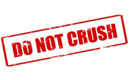 Do not crush. Rubber stamp with text do not crush inside, illustration stock illustration