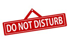 Do not disturb. Rubber stamp with text do not disturb inside,  illustration Stock Photography