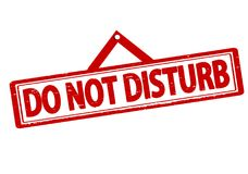 Do not disturb. Rubber stamp with text do not disturb inside,  illustration Royalty Free Stock Photo