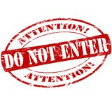 Do not enter. Rubber stamp with text do not enter inside,  illustration Stock Photo