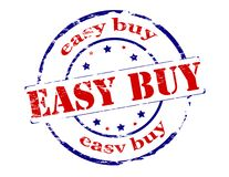 Easy buy. Rubber stamp with text easy buy inside,  illustration Royalty Free Stock Image