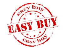 Easy buy. Rubber stamp with text easy buy inside,  illustration Royalty Free Stock Photos