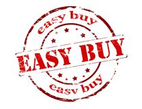 Easy buy. Rubber stamp with text easy buy inside,  illustration Royalty Free Stock Photography