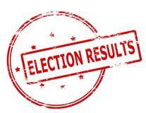 Election results. Rubber stamp with text election results inside,  illustration Royalty Free Stock Photography