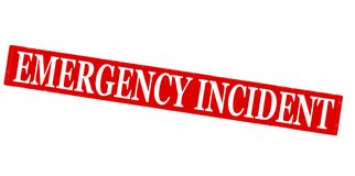 Emergency incident. Rubber stamp with text emergency incident inside, illustration royalty free stock image