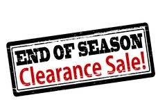 End of season clearance sale. Rubber stamp with text end of season clearance sale inside,  illustration Stock Photos