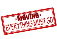 Everything must go. Rubber stamp with text everything must go inside,  illustration Royalty Free Stock Images