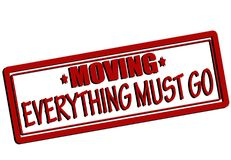 Everything must go. Rubber stamp with text everything must go inside,  illustration Stock Photography