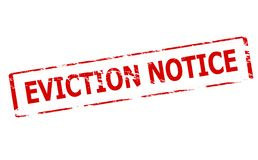 Eviction notice. Rubber stamp with text eviction notice inside,  illustration Royalty Free Stock Photo