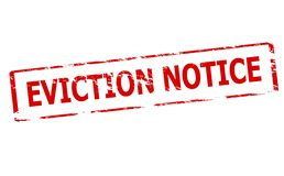 Eviction notice. Rubber stamp with text eviction notice inside,  illustration Royalty Free Stock Photos