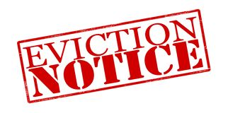 Eviction notice. Rubber stamp with text eviction notice inside,  illustration Stock Photo