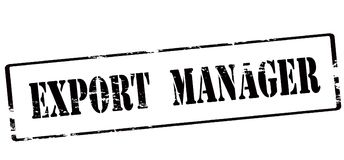 Export manager. Rubber stamp with text export manager inside,  illustration Stock Image