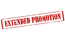 Extended promotion. Rubber stamp with text extended promotion inside,  illustration Royalty Free Stock Photography