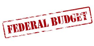 Federal budget. Rubber stamp with text federal budget inside,  illustration Royalty Free Stock Photo